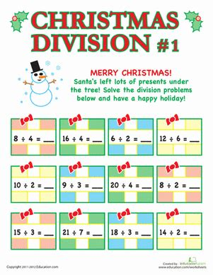 Problem solving with multiplication and division worksheets